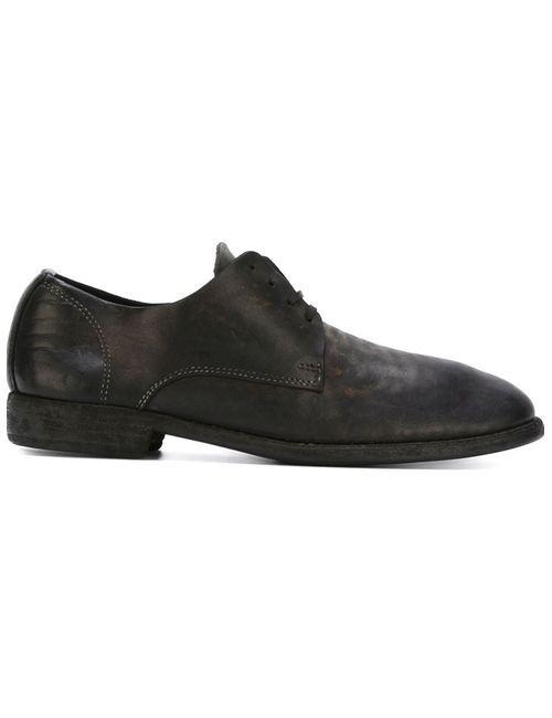 GUIDI | Женские Чёрные Туфли На Шнуровке С Потертой Отделкой