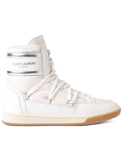 Saint Laurent | Женское Белый Court Classic High-Top Sneakers