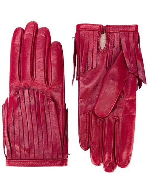 Gala | Женские Красные Перчатки С Бахромой