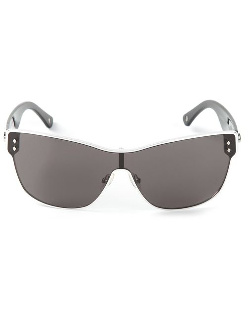 Moncler   Женское Чёрный Square Frame Sunglasses