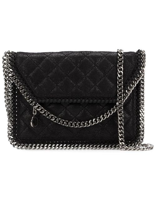 Stella Mccartney | Женское Чёрный Falabella Quilted Cross Body Bag