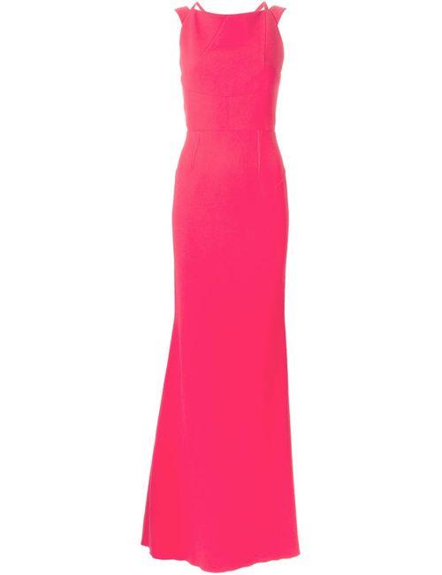 Roland Mouret | Женское Розовое Вечернее Платье С Лямками На Спине