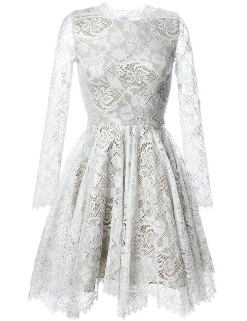Maria Lucia Hohan | Женское Серое Расклешенное Платье Mella