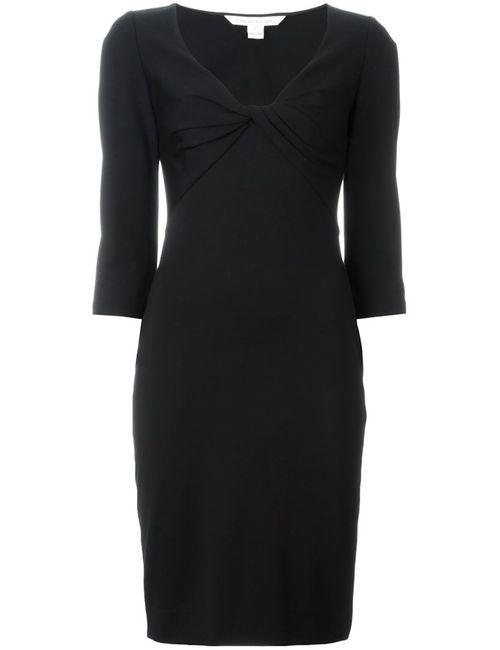 Diane Von Furstenberg | Женское Чёрное Платье С Деталью В Виде Узла