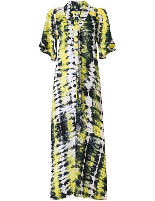 Ktz | Женское Жёлтое Длинное Платье С Узором Тай-Дай