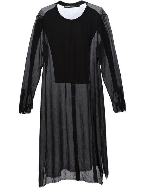 Rundholz | Женское Черный Прозрачное Платье-Рубашка