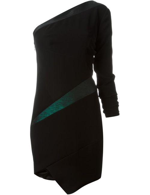 Alexandre Vauthier | Женское Черный Асимметричное Платье На Одно Плечо