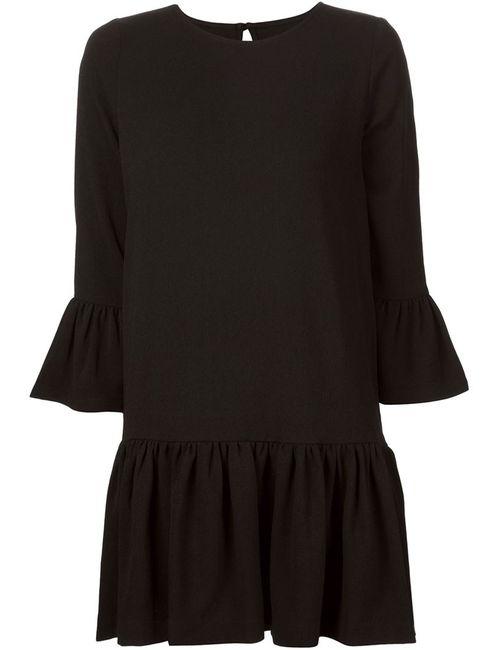 Ganni   Женское Черный Short Pleated Shift Dress