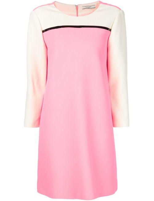 Bouchra Jarrar | Женское Розовое Платье Шифт Дизайна Колор-Блок