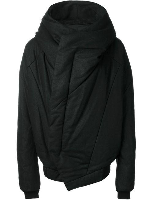 JULIUS | Мужская Чёрная Куртка С Капюшоном И Панельным Дизайном