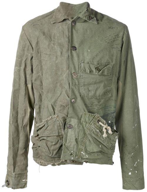 GREG LAUREN | Женская Зелёная Куртка Единственного Экземпляра