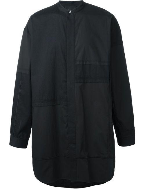 3.1 Phillip Lim | Мужская Чёрная Удлиненная Рубашка С Воротником-Стойкой