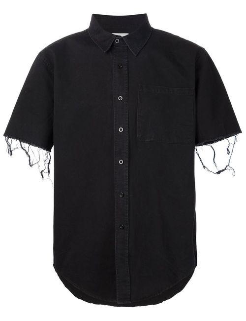 Unif   Мужская Чёрная Рубашка С Короткими Рукавами