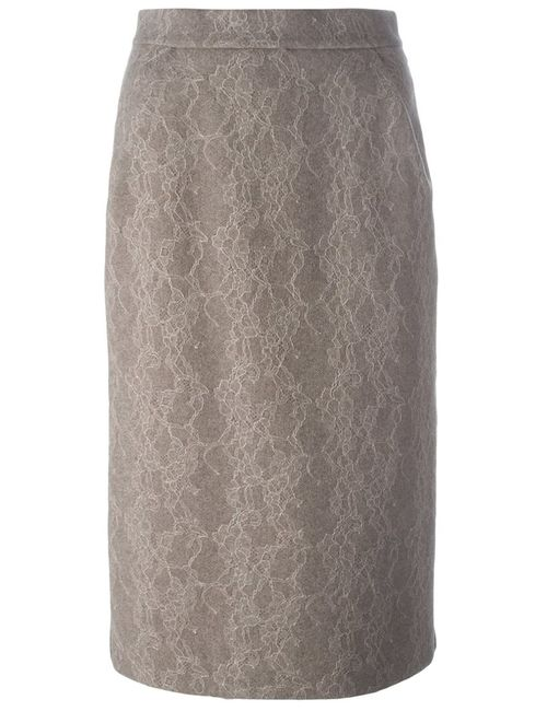 Max Mara | Женское Nude & Neutrals Lace Midi Skirt