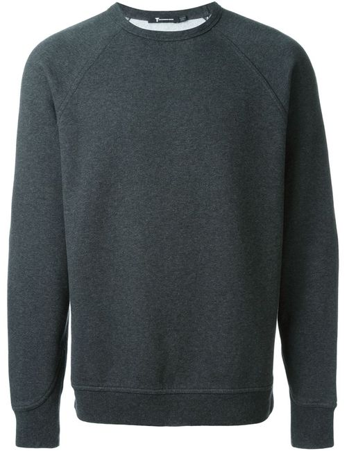 T By Alexander Wang | Мужское Серый Round Neck Sweatshirt