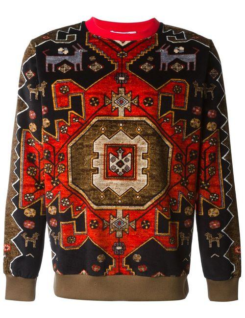Givenchy   Мужской Многоцветный Свитер С Орнаментом Persian