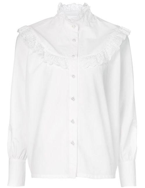 Co | Женская Белая Блузка С Ажурными Оборками