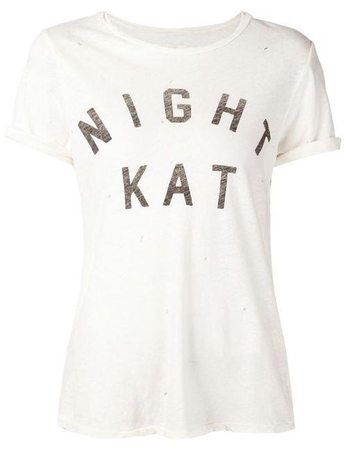 Current/Elliott | Женское Белый Night Kat Print T-Shirt