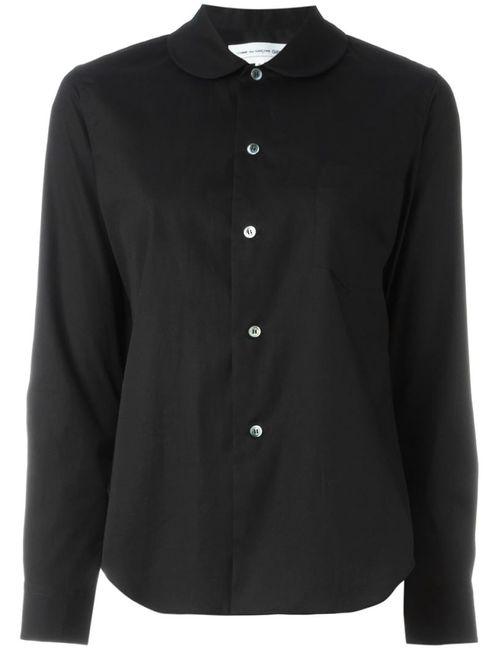 Comme Des Garcons | Женская Чёрная Рубашка С Воротником Питер Пен