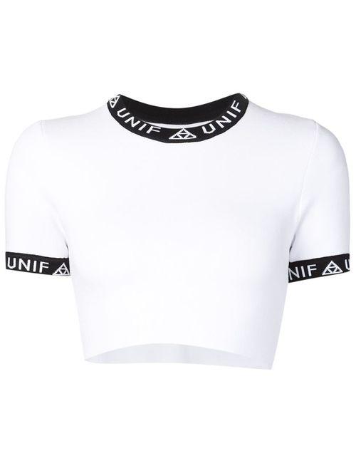 Unif | Женская Белая Укороченная Футболка Bad Sport
