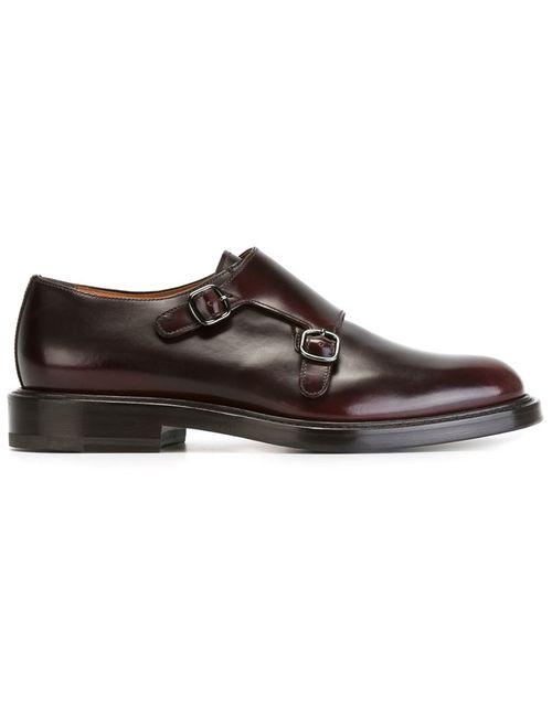 Santoni | Мужские Коричневые Классические Туфли-Монки