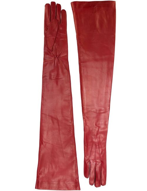 Ann Demeulemeester | Женские Красные Длинные Перчатки