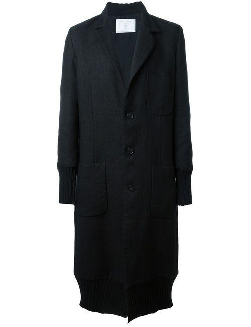 SOCIETE ANONYME | Мужское Чёрное Удлиненное Пальто
