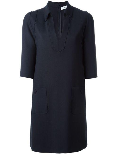 Mauro Grifoni | Женское Синее Платье С Рукавами Три Четверти