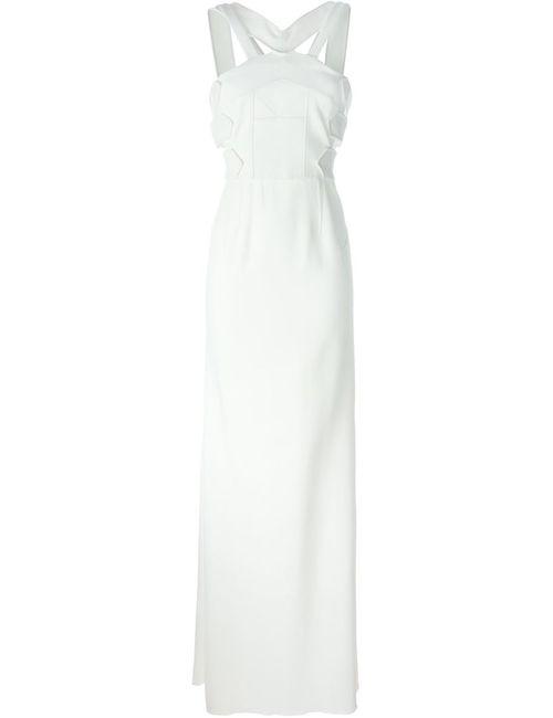 Roland Mouret | Женское Белое Длинное Платье С Лямками На Спине