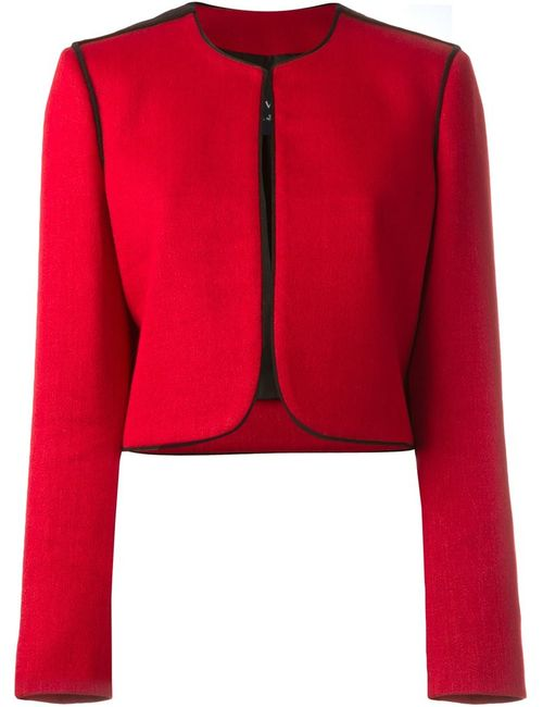 Lanvin | Женский Красный Укороченный Пиджак