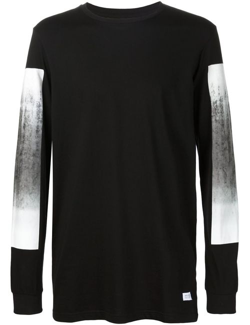 STAMPD | Мужское Чёрный Panel Printed Sleeve Sweatshirt