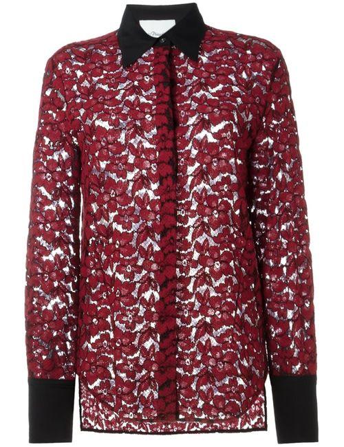 3.1 Phillip Lim | Женская Красная Блузка С Цветочным Кружевом