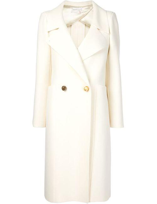Maison Rabih Kayrouz | Женское Белое Двубортное Пальто С Контрастными Пуговицами