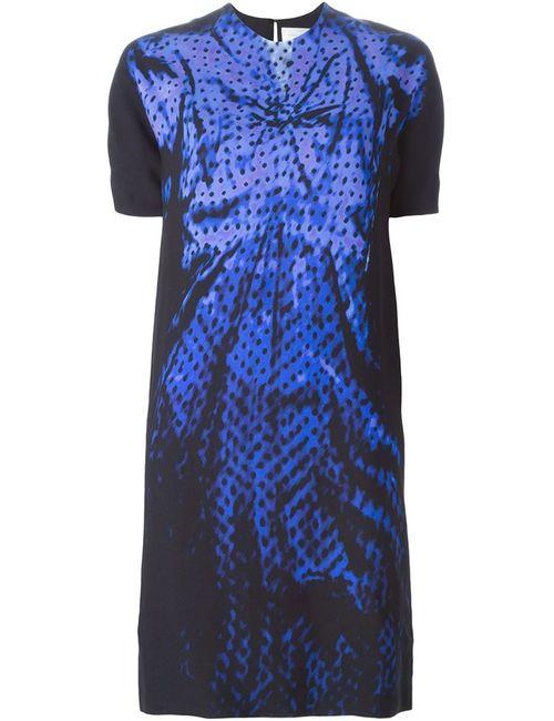 Victoria, Victoria Beckham | Женское Чёрное Платье Шифт С Принтом