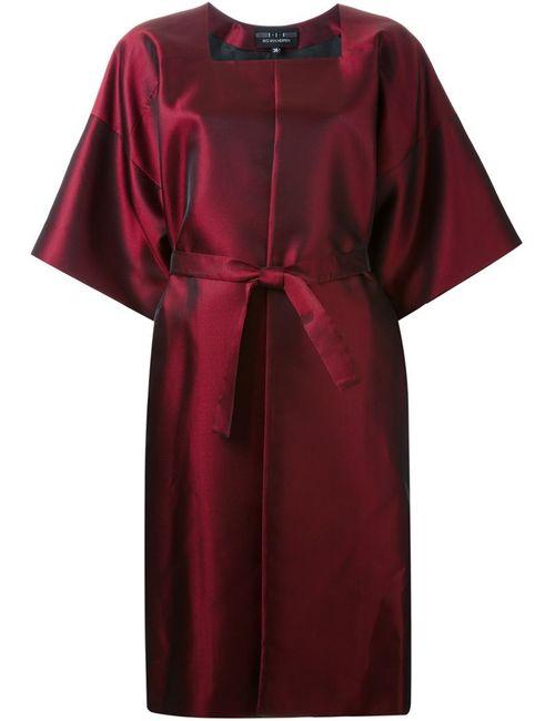 Iris Van Herpen | Женское Красное Платье С Поясом И Широкими Рукавами