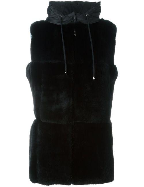 P.A.R.O.S.H. | Женский Чёрный Пиджак Без Рукавов С Капюшоном