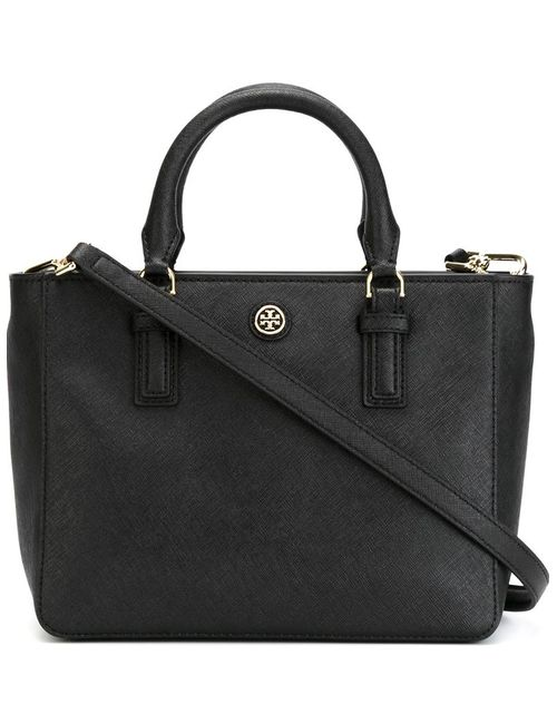 Tory Burch | Женское Чёрный Logo Plaque Small Tote