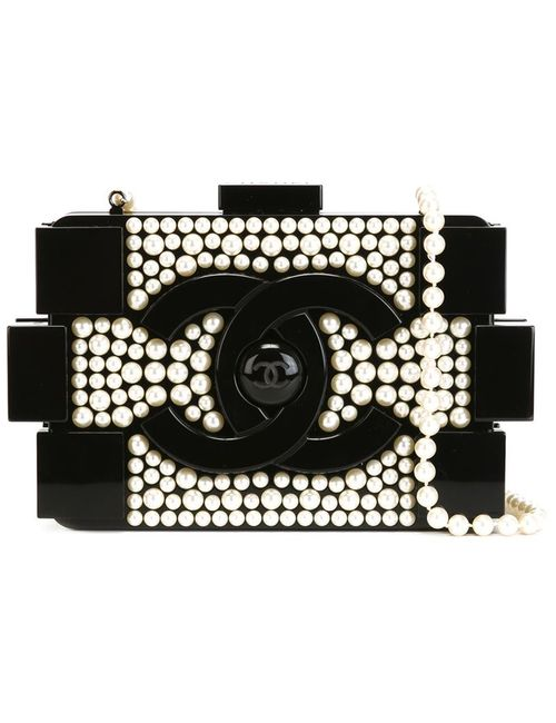 Chanel Vintage | Женский Чёрный Клатч-Футляр Brick