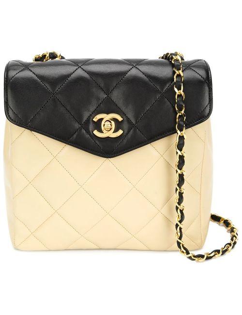 Chanel Vintage | Женская Многоцветная Двухцветная Сумка Через Плечо