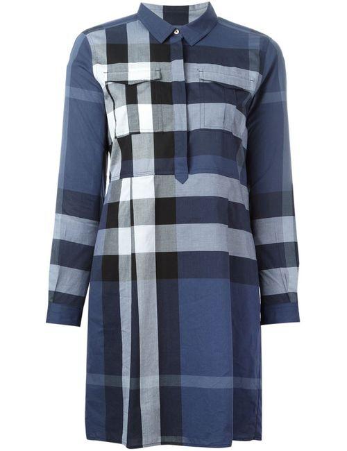 Burberry Brit   Женское Синий Checked Shirt Dress