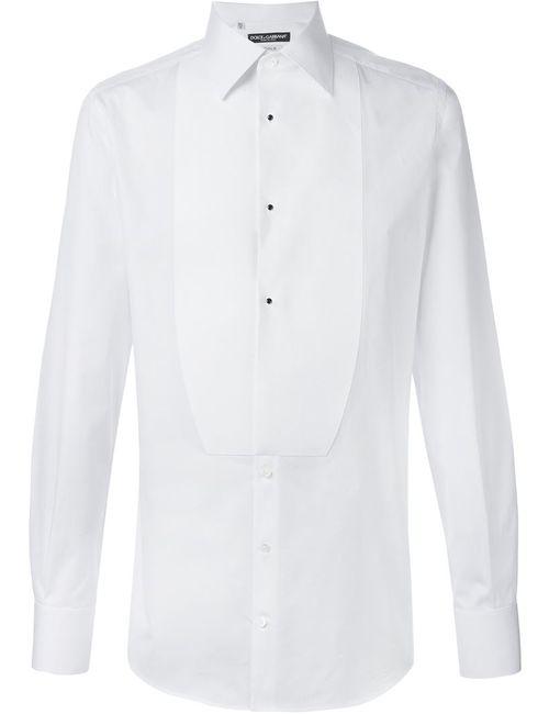 Dolce & Gabbana | Мужская Белая Рубашка-Смокинг