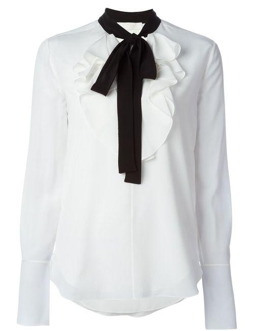 Chloe   Женская Белая Блузка С Завязками На Бант