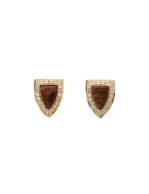 Anita Ko | Женское Серебристый Wood Diamond Stud Earrings