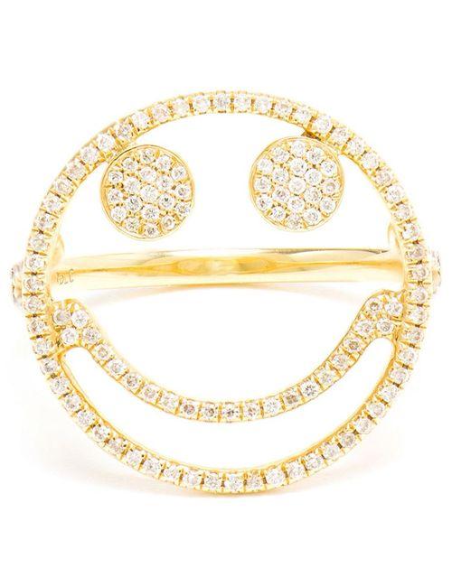 ROSA DE LA CRUZ | Женское Серебристый Diamond Smiley Ring