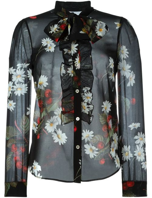 Red Valentino | Женское Чёрный Sheer Print Blouse