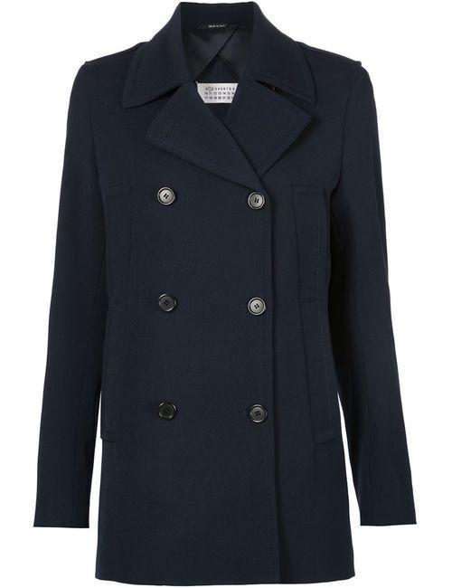 Maison Margiela | Женское Синее Пальто Со Встречной Складкой