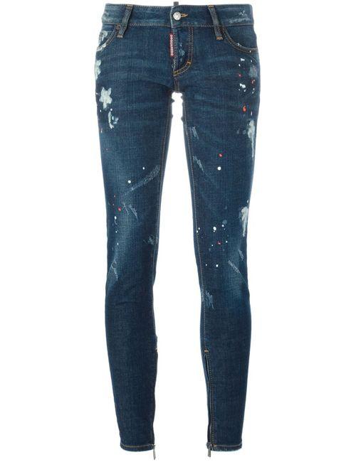 Dsquared2 | Женское Синий Paint Spattered Jeans