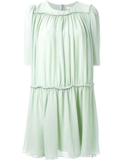 Chloe | Женское Зелёное Плиссированное Платье