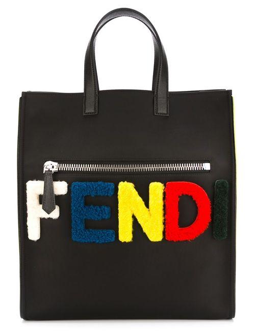 Fendi | Мужская Черный Сумка-Тоут С Логотипом