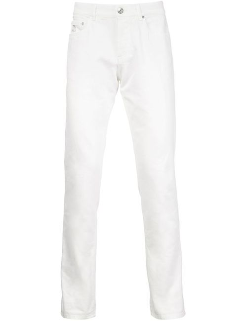 Brunello Cucinelli | Мужское Белый Button Fly Regular Fit Trousers